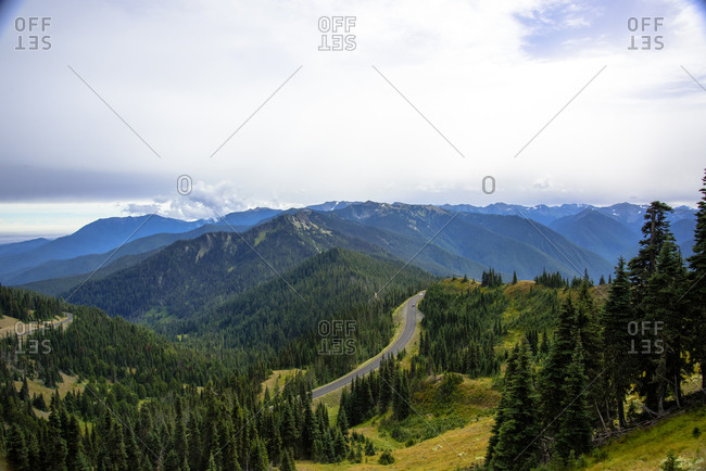 A view from Hurricane Ridge in the Olympic National Park
