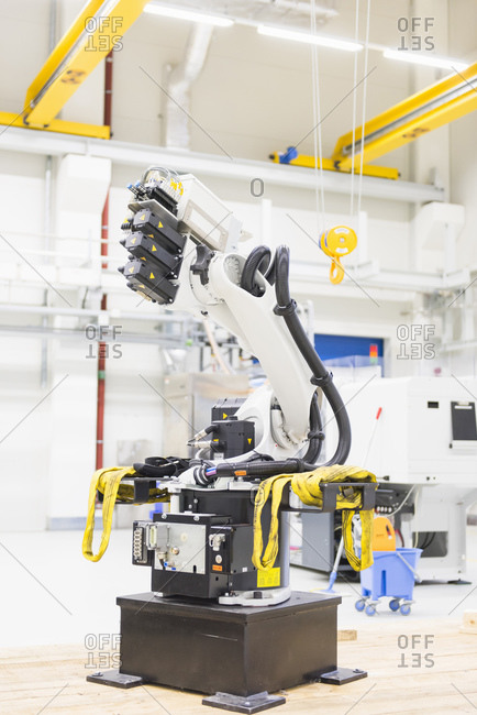 Industrial robot on factory shop floor