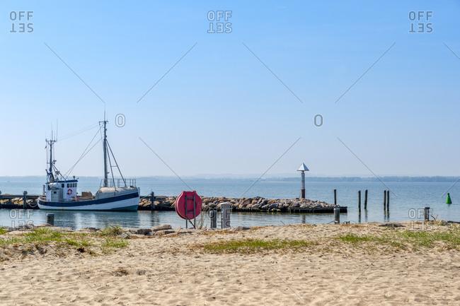 Germany- Mecklenburg-Vorpommern- Poel Island- Timmendorf- fishing boat at pier