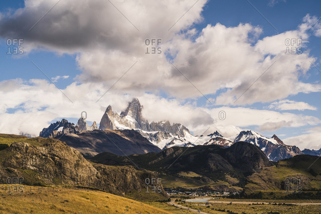 Argentina- Scenic view of clouds over Fitz Roy mountain