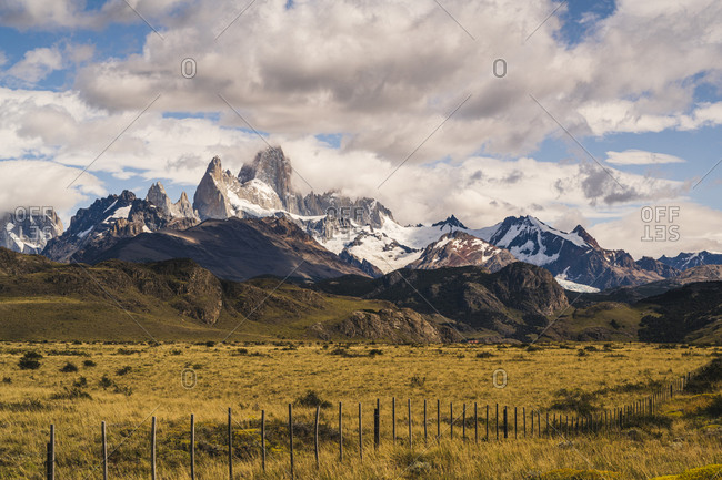 Argentina- Scenic view of Fitz Roy mountain