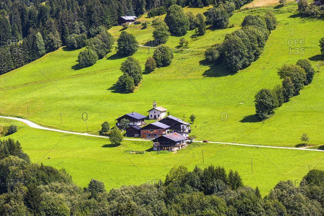 August 21, 2006: France, Auvergne Les Saisies . Hauteluce. Landscape near the village.