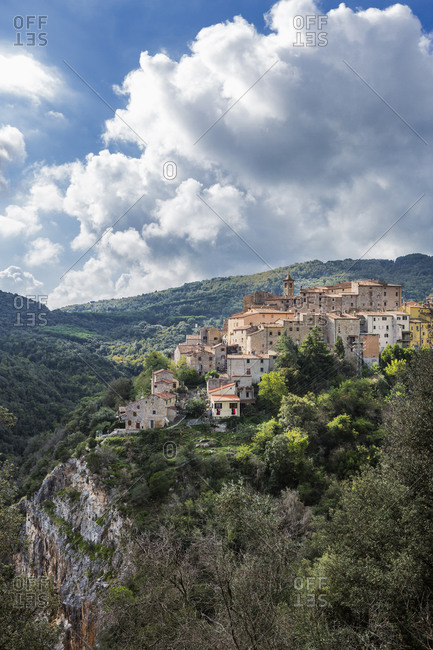 May 12, 2020: Italy, Tuscany, Sassetta. View of the village.