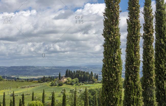 May 11, 2020: Italy, Tuscany, San Gimignano. Landscape near San Gimignano.