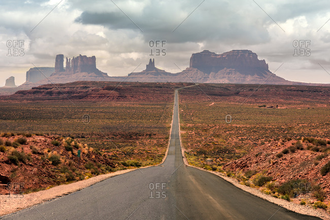 Monument Valley distant view from Utah on Highway 163