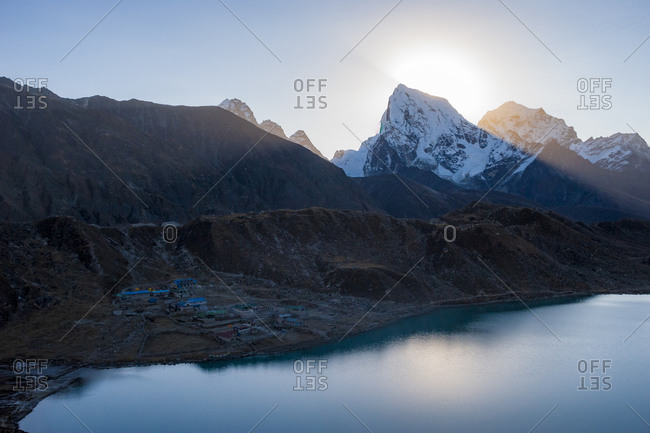 Gokyo lake  in the Everest region of Nepal