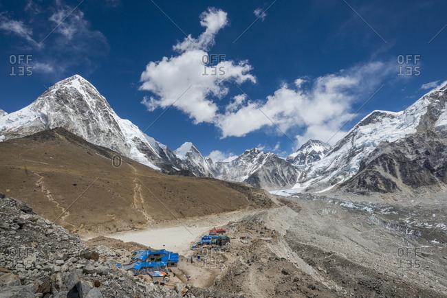 The last village on the Everest Base Camp trek lying at 5100M