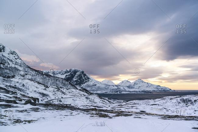 Grotfjord, Kvaloya, Norway landscape image