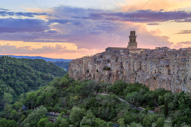 Pitigliano, Tuscany, Italy landscape image