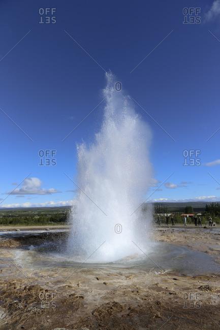 Strokkur Geyser, Iceland landscape image