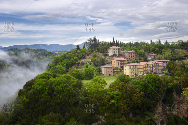 At Pitigliano, Tuscany, Italy landscape image