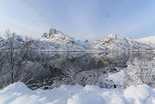 Fjord landscape, Vesteralen, Norway landscape image