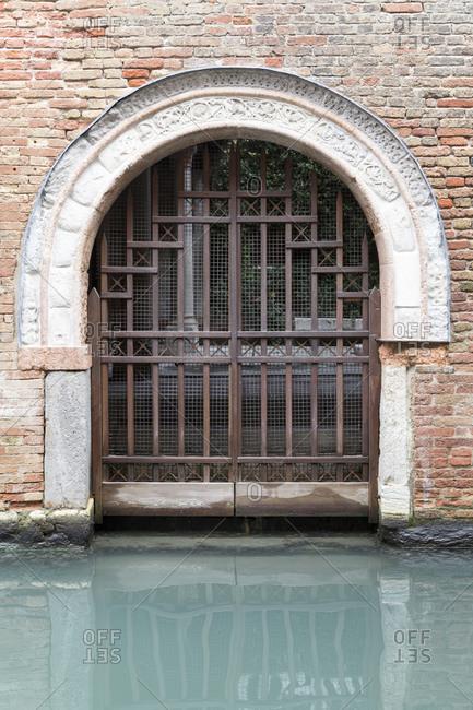 Iron gate, Venice, Italy landscape image