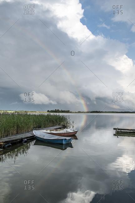 Jetty, Masuria, Poland, Europe landscape image