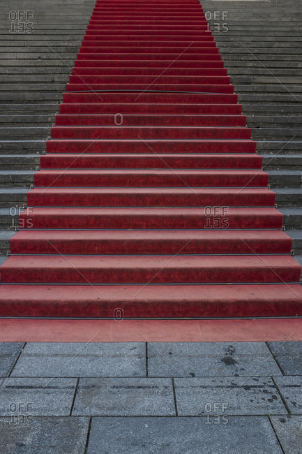Stairs with red carpet landscape image