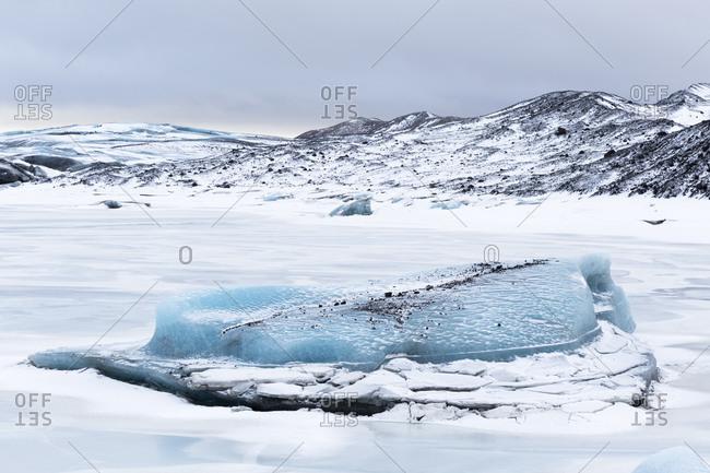 Svinafellsjokull Glacier, Skaftafell, Iceland landscape image