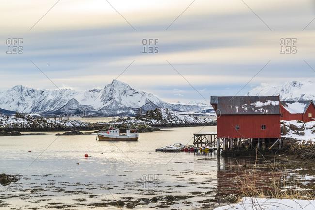 Guvag harbor in Vesteralen, Norway