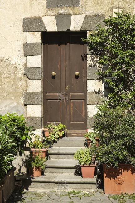 House entrance, Orvieto, Umbria, Italy