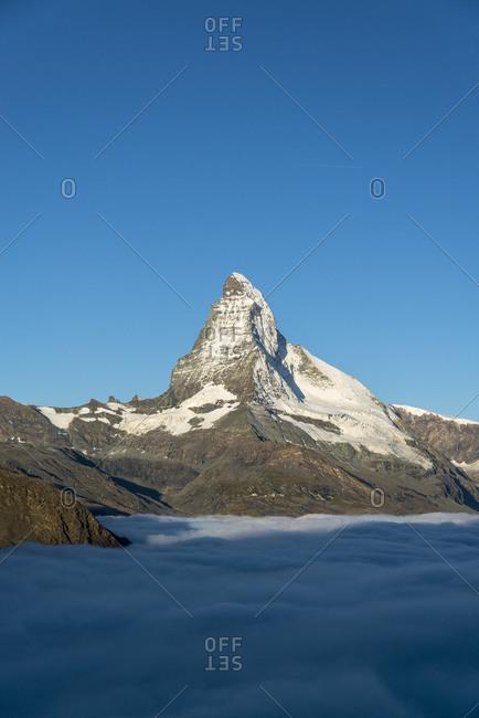 Matterhorn with cloud cover, Switzerland
