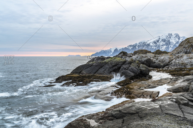 Nesland coast, Flakstadoy, Lofoten, Norway