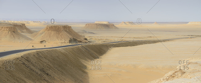 Road in the Sahara, Egypt