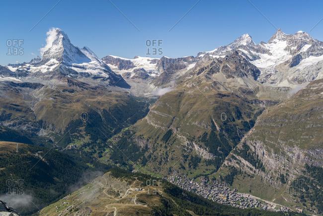 Zermatt valley with Matterhorn, Switzerland