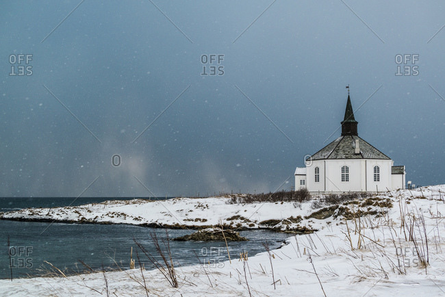 Church by the sea, Vesteralen, Norway