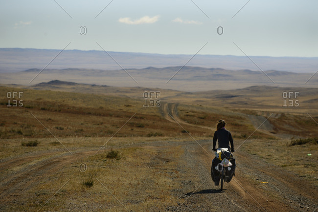 Cycling through the Gobi Desert, Mongolia