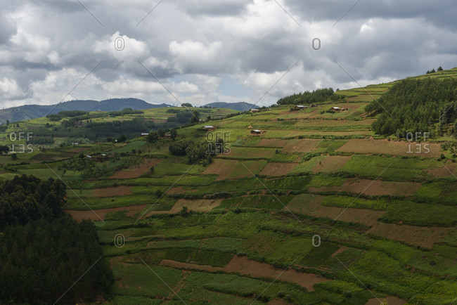 Mountain landscape in West Uganda, Africa