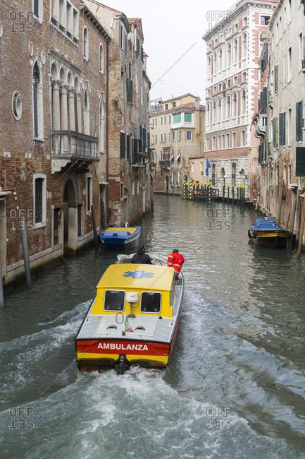 November 12, 2015: Lifeboat, Venice, Italy