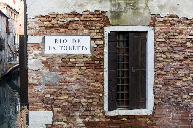 Rio de la Toletta, Venice, Italy