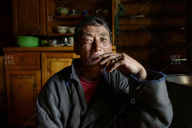 September 8, 2013: Mongolian nomad, Mongolia