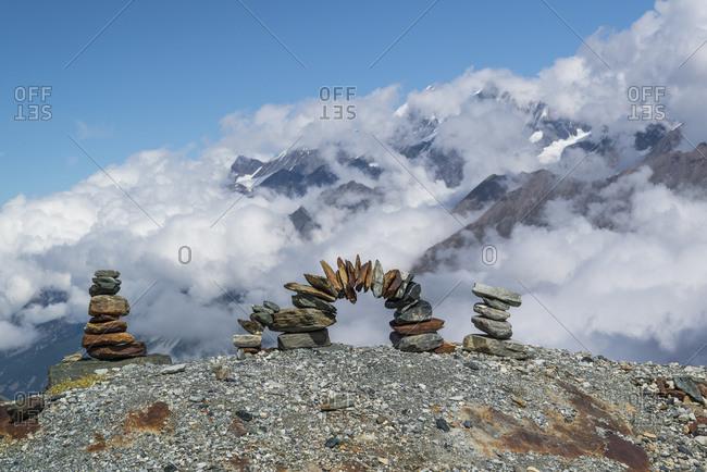 Signpost at the Matterhorn, Zermatt, Switzerland