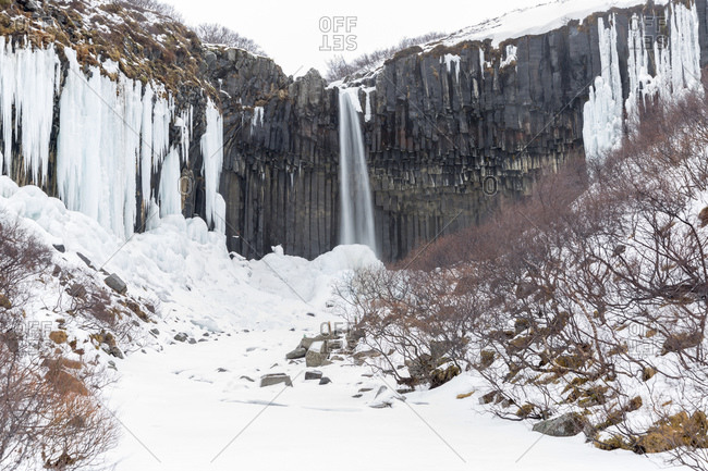 Svartifoss waterfall, Skaftafell National Park, Iceland