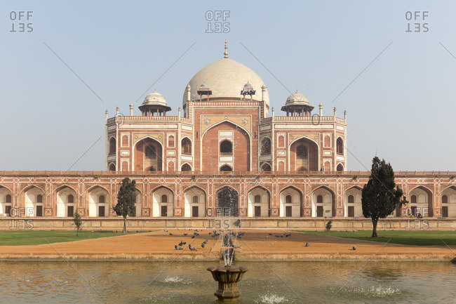 The Humayun Mausoleum in Delhi, India