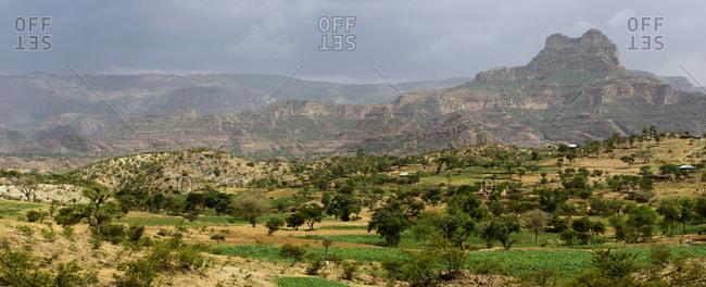 View of the Tigray region, Ethiopia
