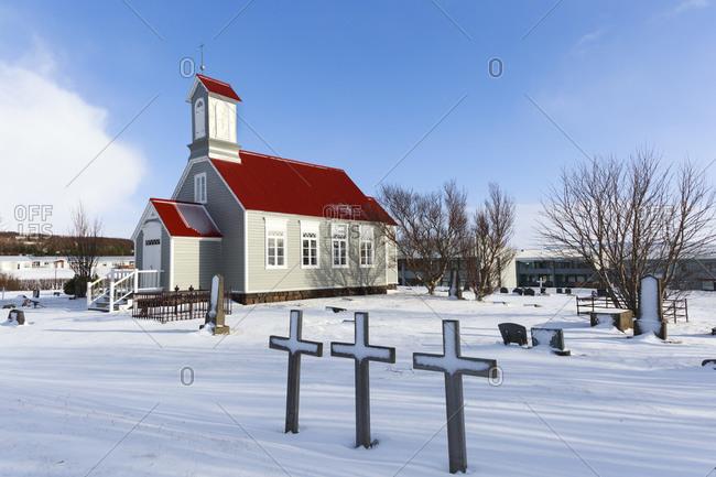 19th century church in Reykholt, Vesturland, Iceland