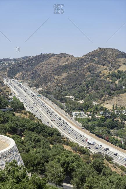 6 lane highway, Los Angeles, California, USA
