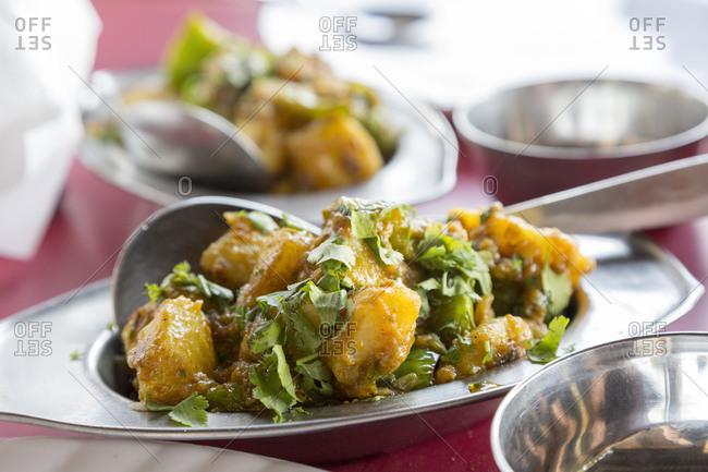 Aloo Masala, Potato Curry, Jodhpur, Rajasthan, India
