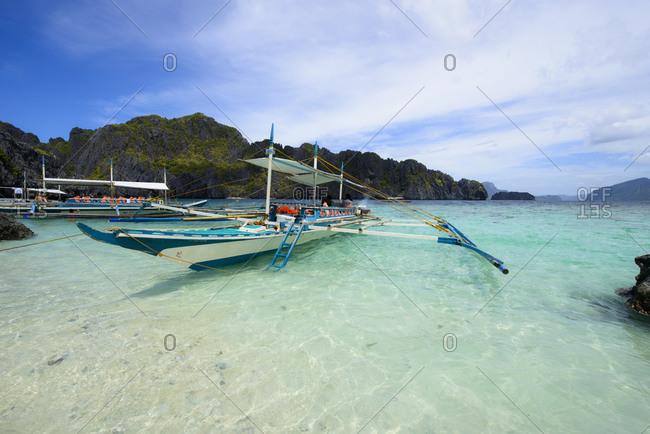 Boat transport, El Nido archipelago, Palawan, Philippines
