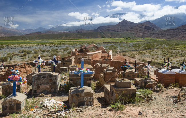 Cemetery at high altitude in northern Argentina