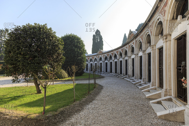 Cemetery on San Michele island, Venice, Italy