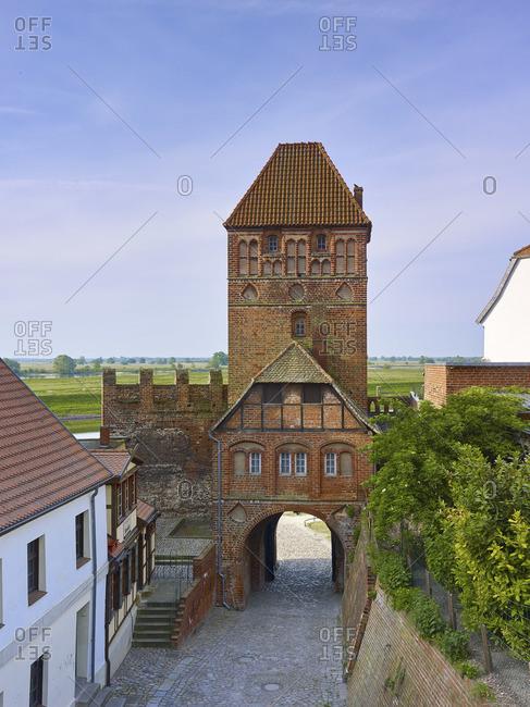 Elbtor with Rossfurt in Tangermunde, Saxony-Anhalt, Germany