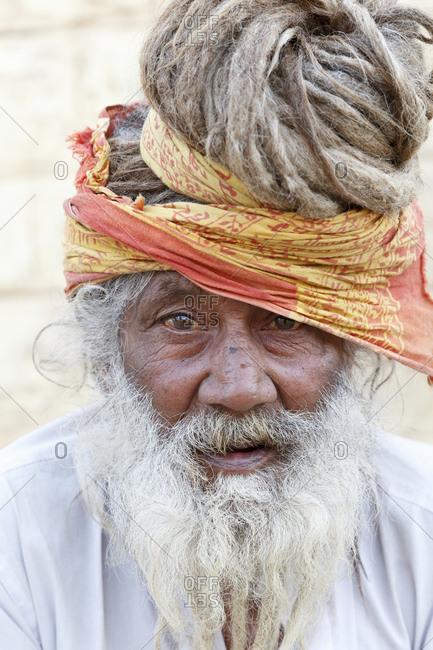 February 11, 2016: Portrait, Jaisalmer, Rajasthan, India