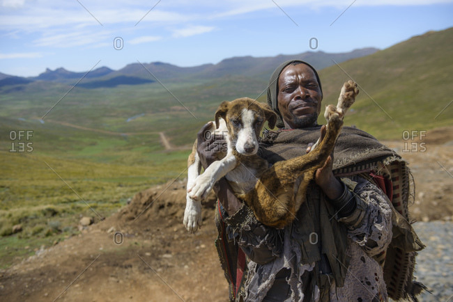 February 12, 2015: Basotho Shepherd, Lesotho, Africa