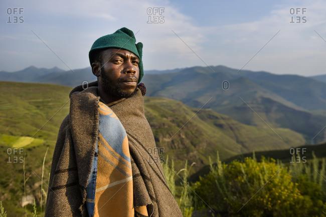 February 13, 2015: Basotho Shepherd, Lesotho, Africa