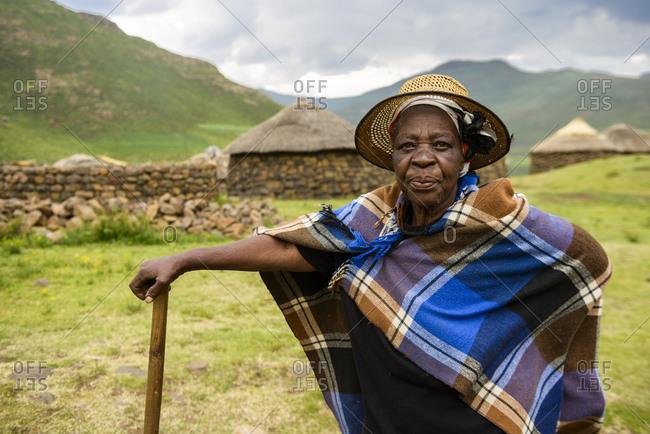 February 13, 2015: Basotho woman, Lesotho, Africa