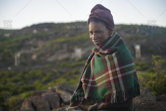 February 15, 2015: Basotho Shepherd, Lesotho, Africa