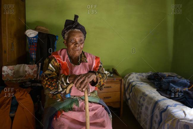 February 17, 2015: Basotho woman, Lesotho, Africa