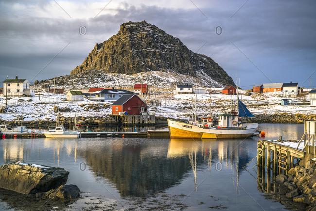 Fishing village Nykvag on Langoya, Vesteralen, Norway